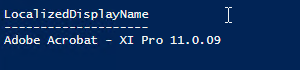 Powershell output with autoinstall applications